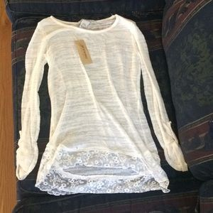 White sweater lace
